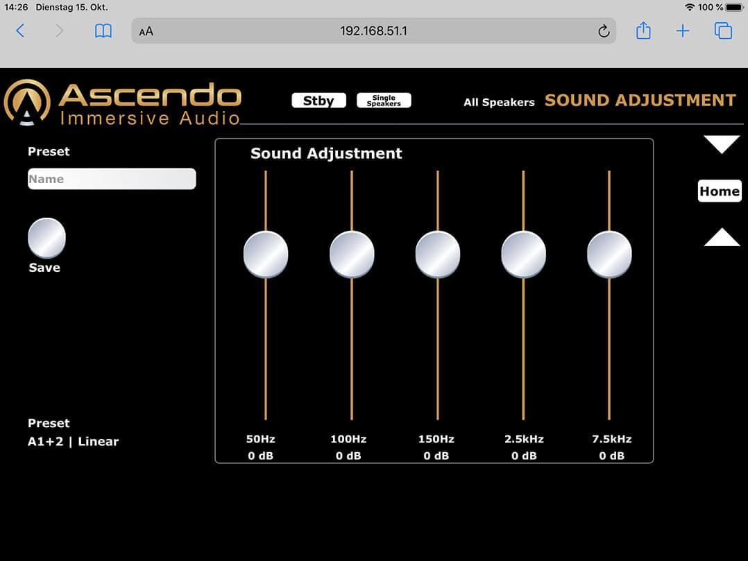 Die Ascendo Live 15 lässt App-gesteuert im Frequenzgang justieren. Ob dies sinnvoll erscheint...