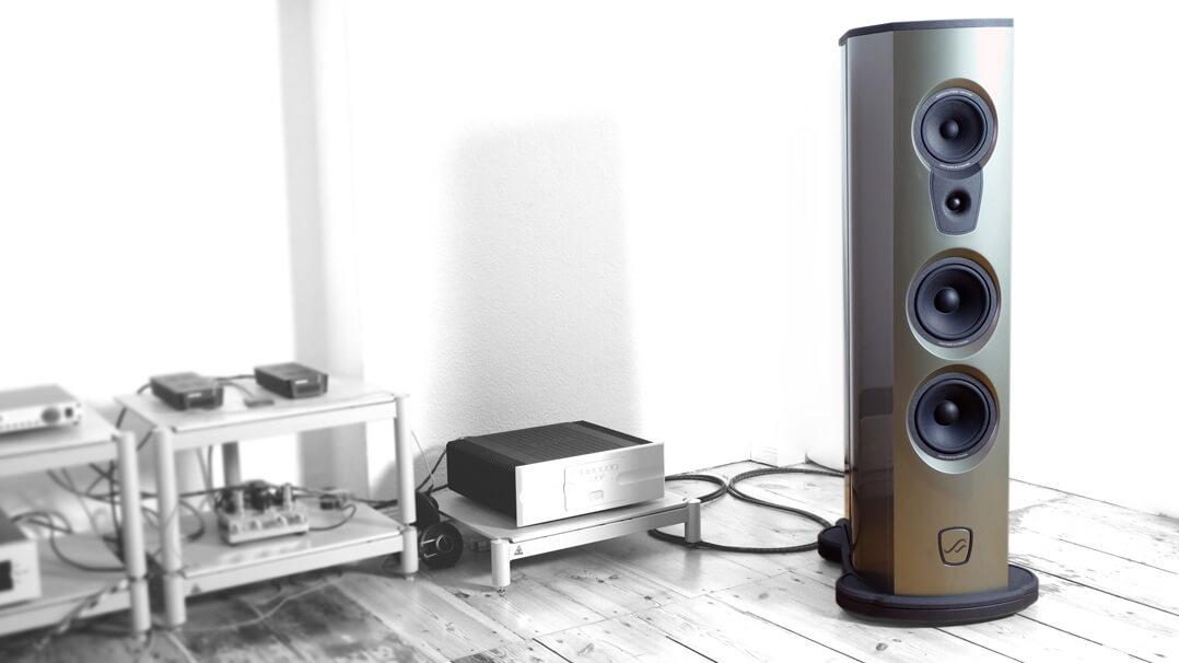 AudioSolutions Virtuoso M: Lautsprecher im Hörraum