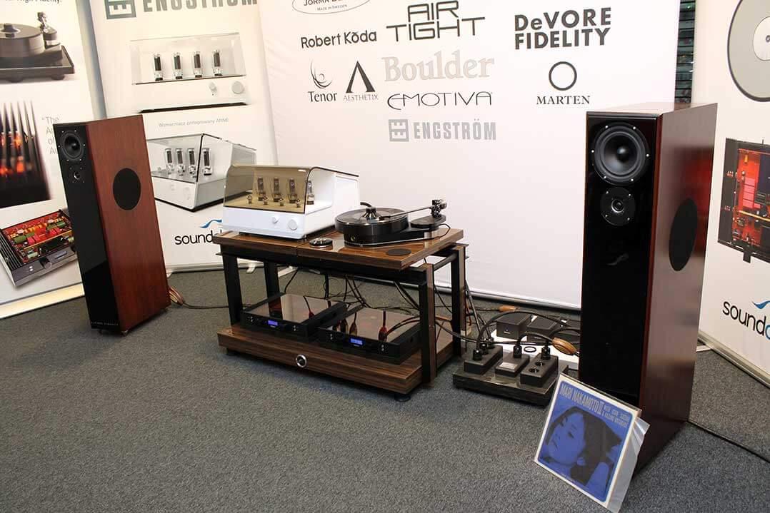 DeVore-Fidelity-Gibbon-Lautsprecher an Engström-Verstärker