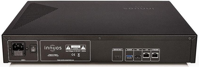 Übersichtliches Anschlussfeld: Der Innuos Zen Mk3 bietet zwei USB-Buchsen (DAC & Backup) sowie zwei mal RJ45 (Netzwerk & Streamer-Direktanschluss), das war's im Wesentlichen. Der HDMI-Out dient dem Servicezugang. WLAN und Bluetooth werden aus klanglichen Gründen nicht unterstützt