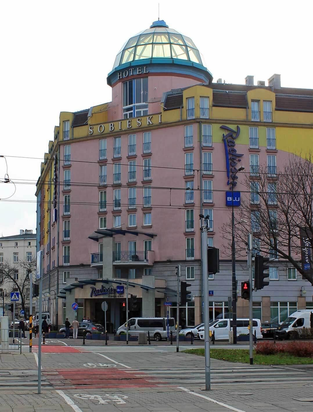 Das Hotel Radisson Blue Sobieski, einer von drei Veranstaltungsorten
