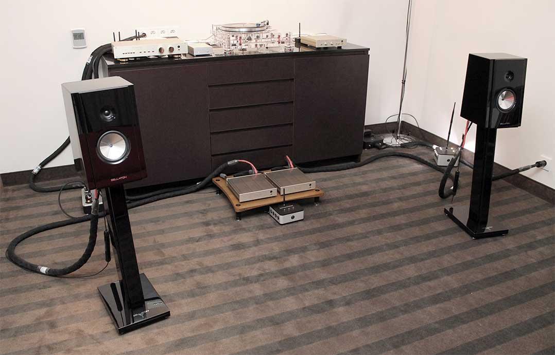 Zellaton-Lautsprecher an FM-Electronic-Elektronik