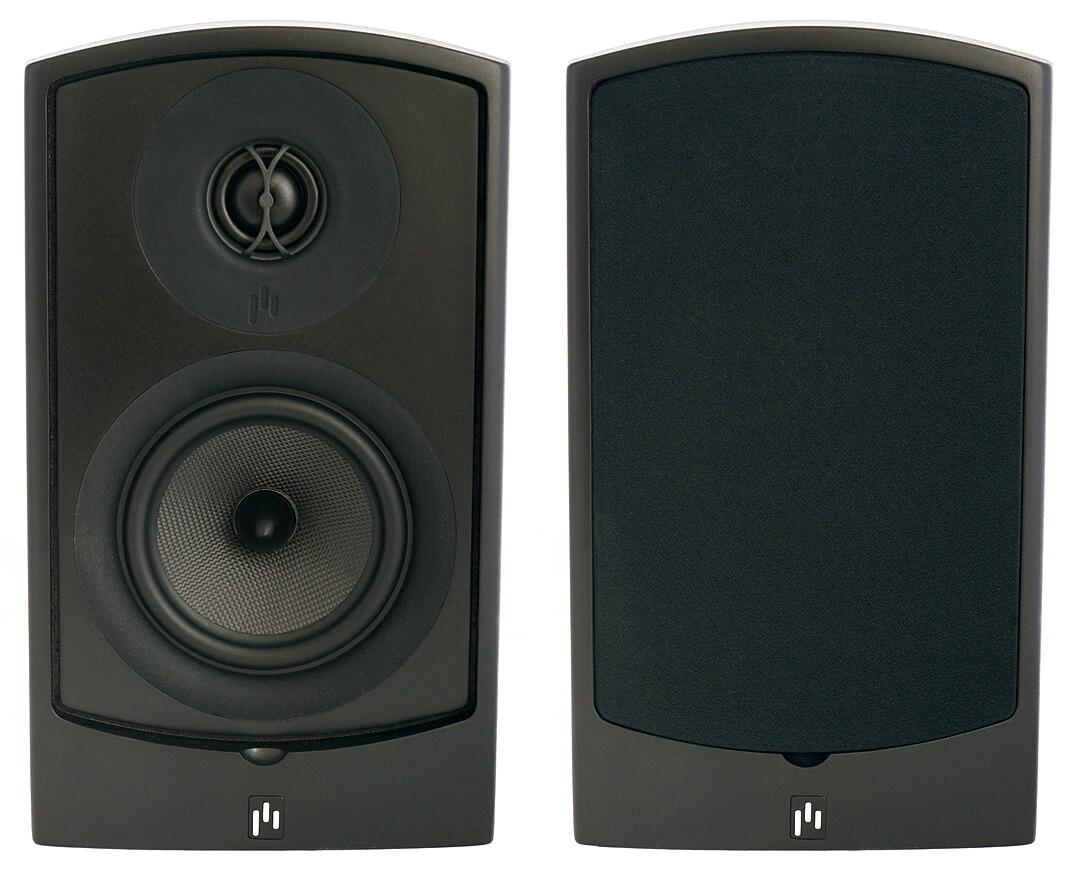 Aperion Audio Verus III Grand Bookshelf ohne und mit Frontabdeckung