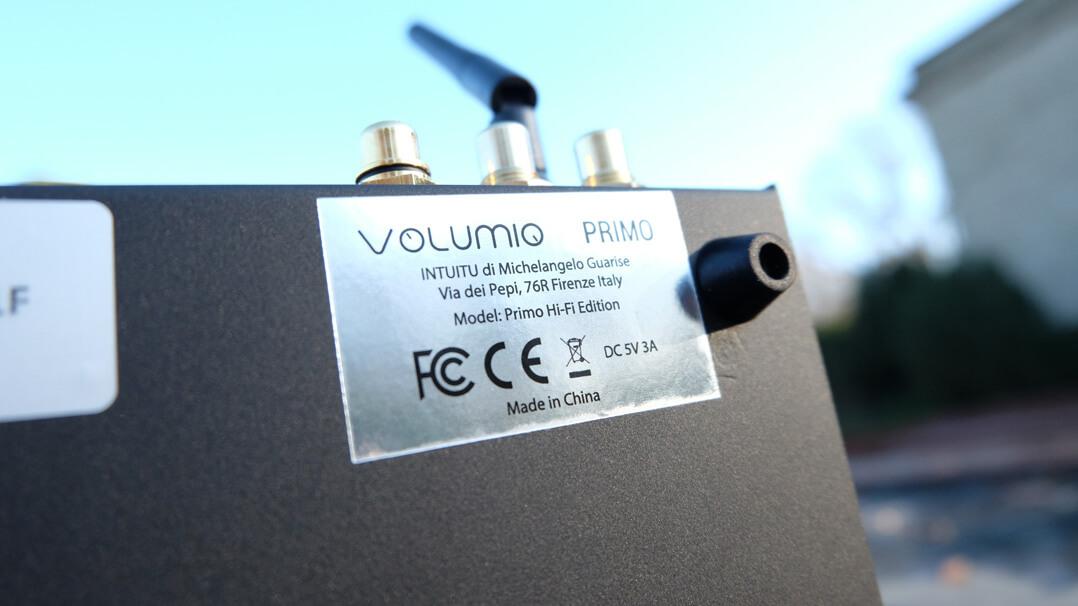 Volumio Primo - Typenschild - Made in China