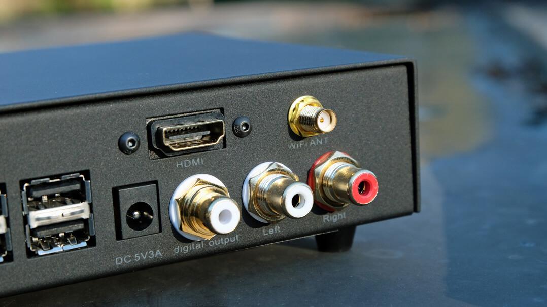 Volumio Primo - RCA-Schnittstellen: analog und digital