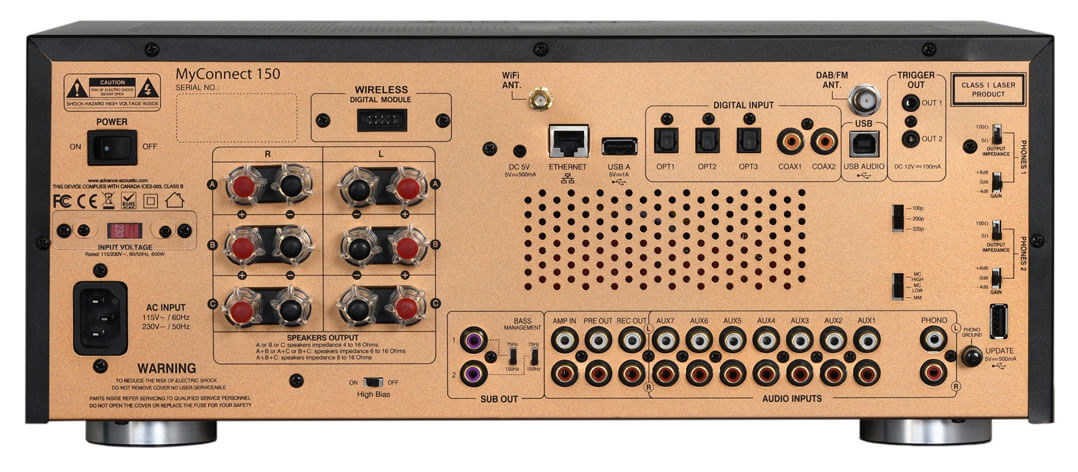 Advance Paris MyConnect 150: Streaming-Verstärker - Rückseite
