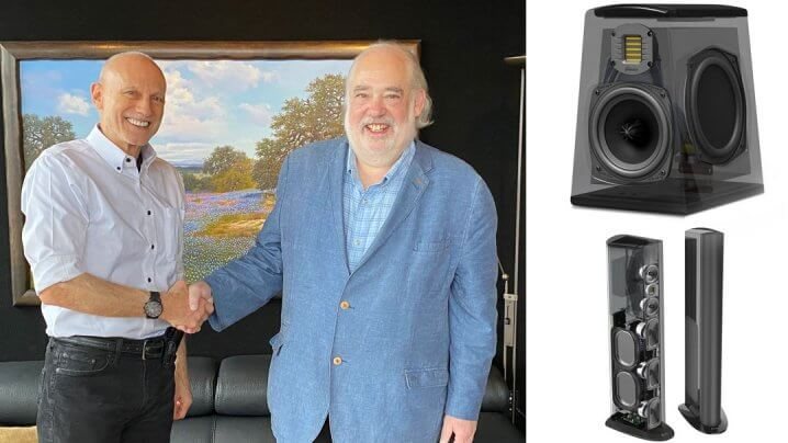 Bill Low und Sandy Gross sowie GoldenEar Technology Triton Reference und Technology Aon 2