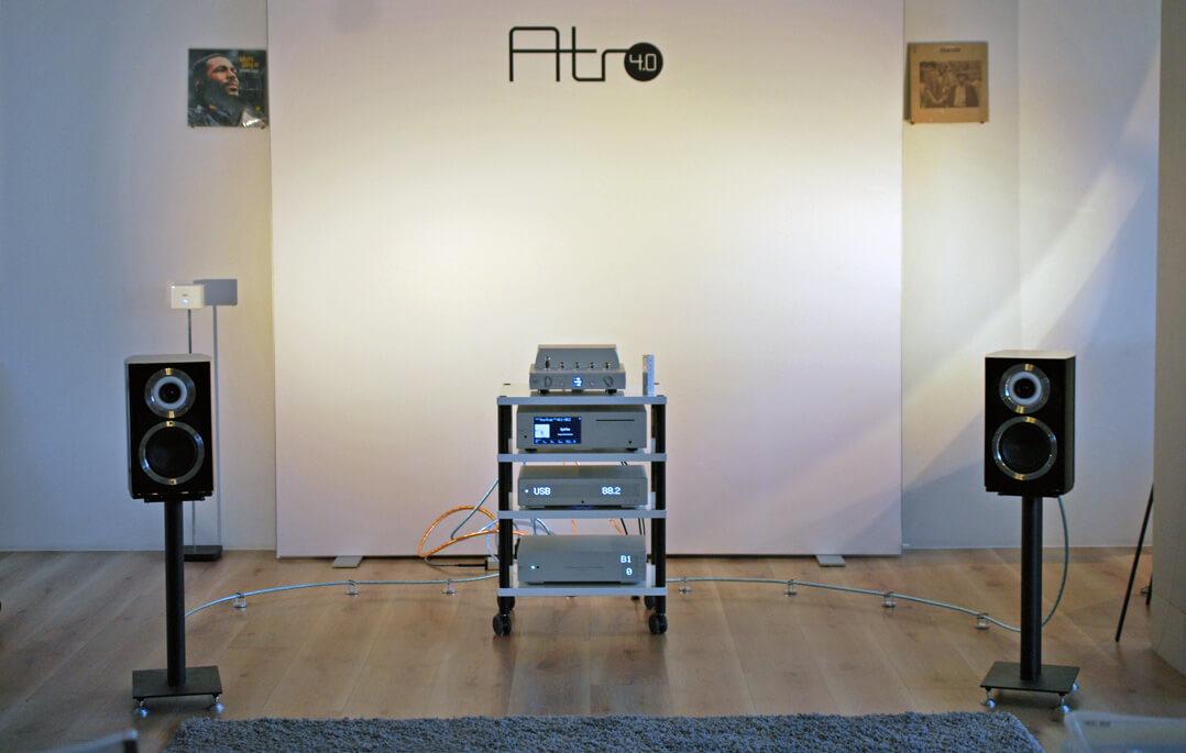 Cabasse Murano im Paar mit Waversa-Elektronik