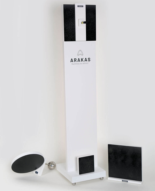Das komplette Arakas-Akustikspiegel-Programm