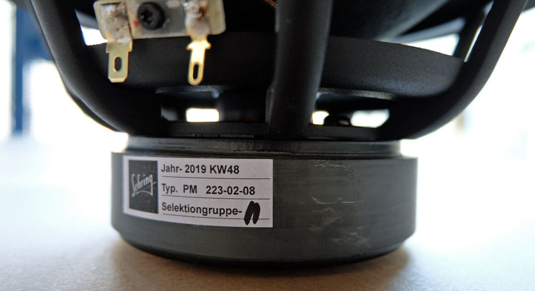Sehring S903 Lautsprecher - Treiberselektion