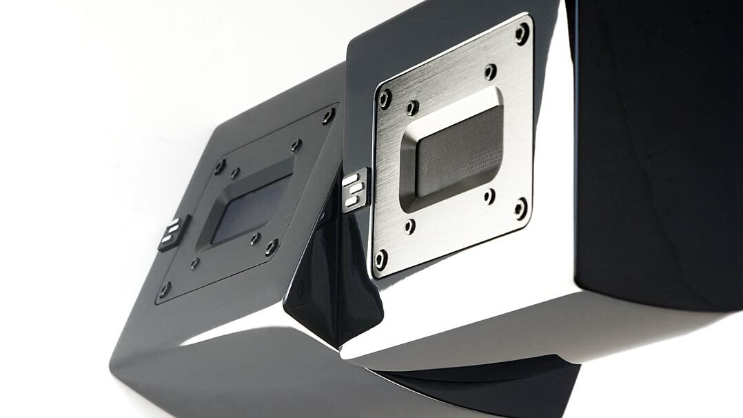 Aperion Audio Supertweeter Aluminium: von oben, gestapelt