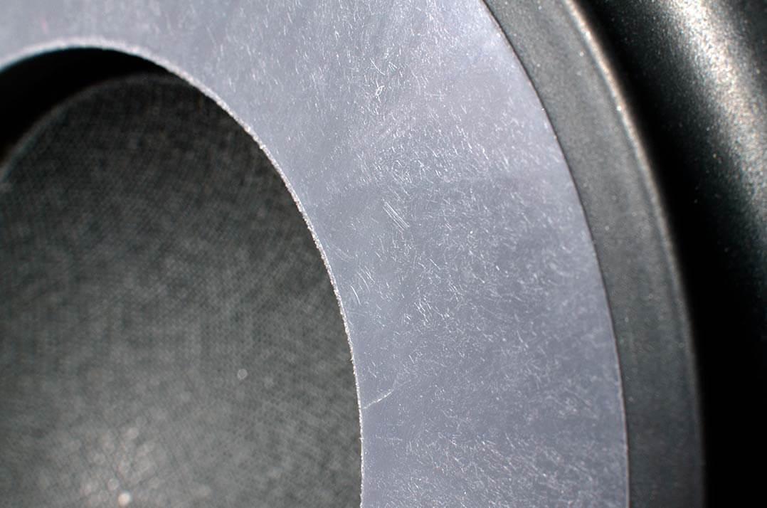 Detail Mittelton/Bass-Treiber der Vienna Acoustics Lautsprecher