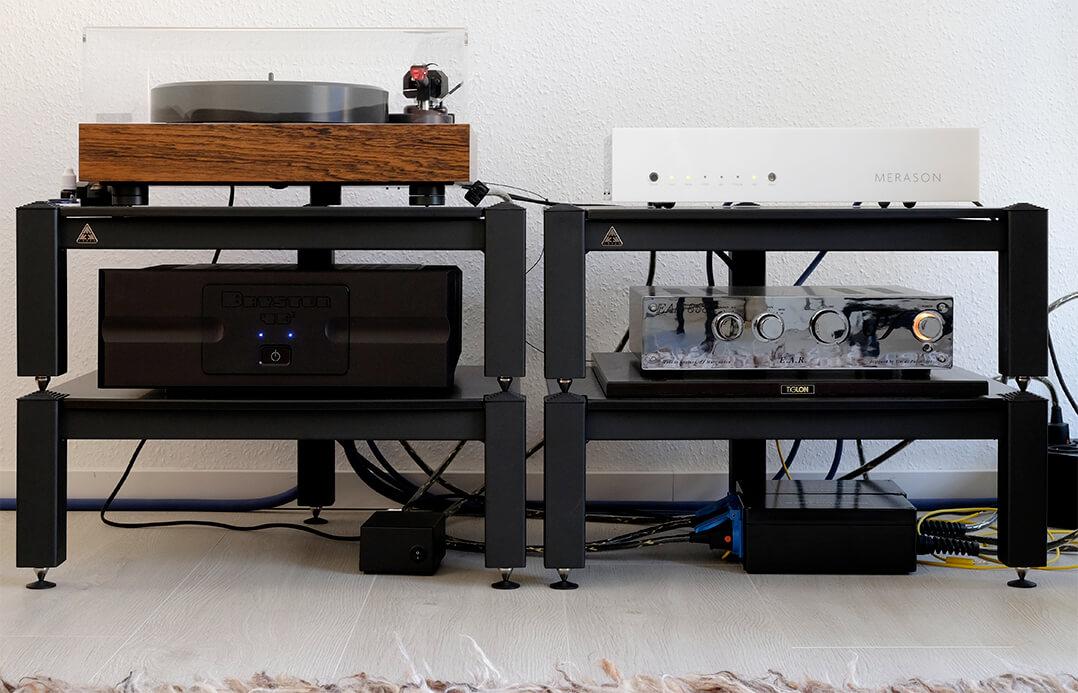Der Merason DAC-1 in der Testanlage