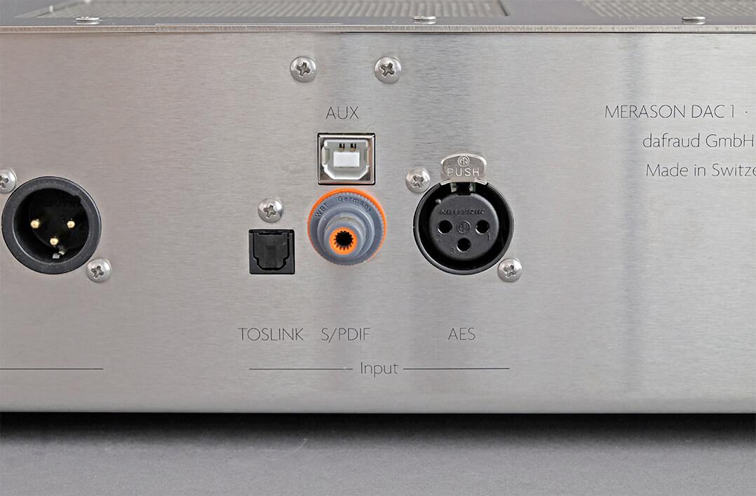 Die digitalen Eingänge des Merason DAC-1