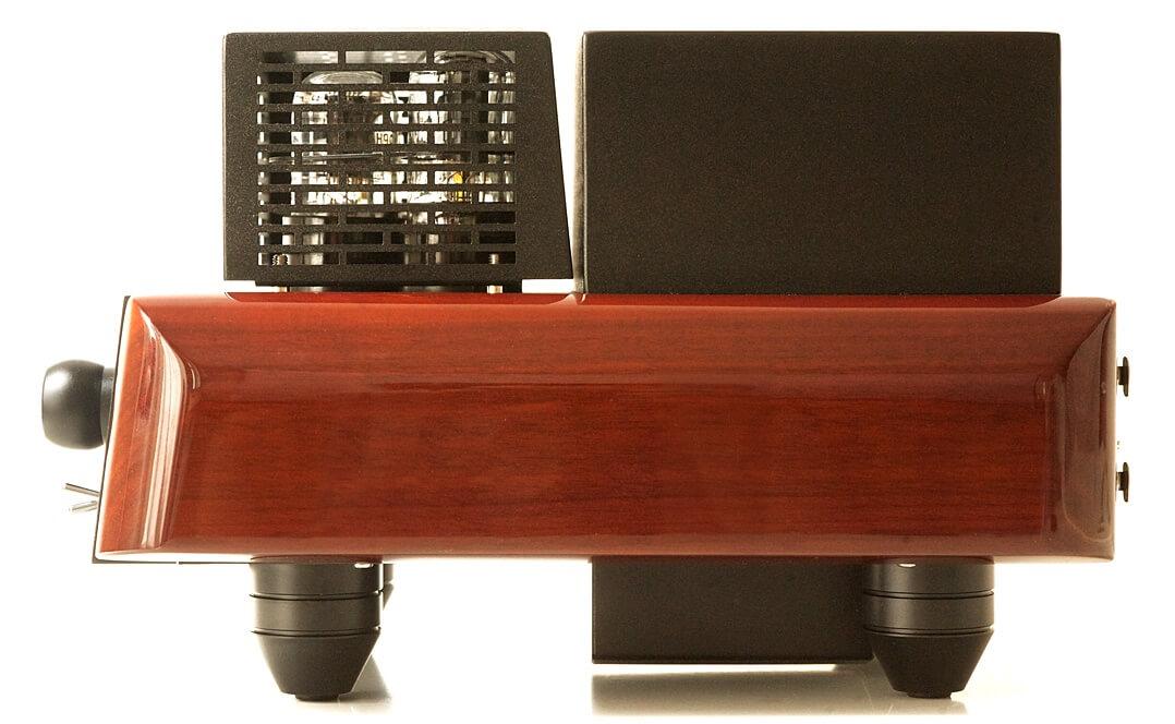 Der Ekco EVH besitzt Seitenteile aus Holz