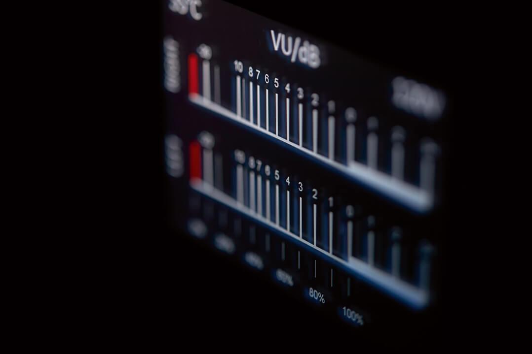 Rotel Michi S5 Stereo-Endverstärker - VU-Meter makro