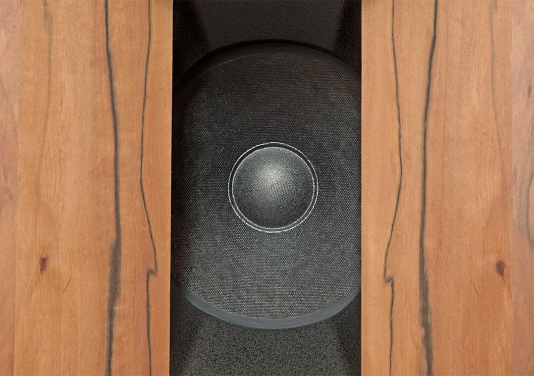 Blick auf einen der beiden 10-Zoll-Woofer der Gran Gioia 2x10