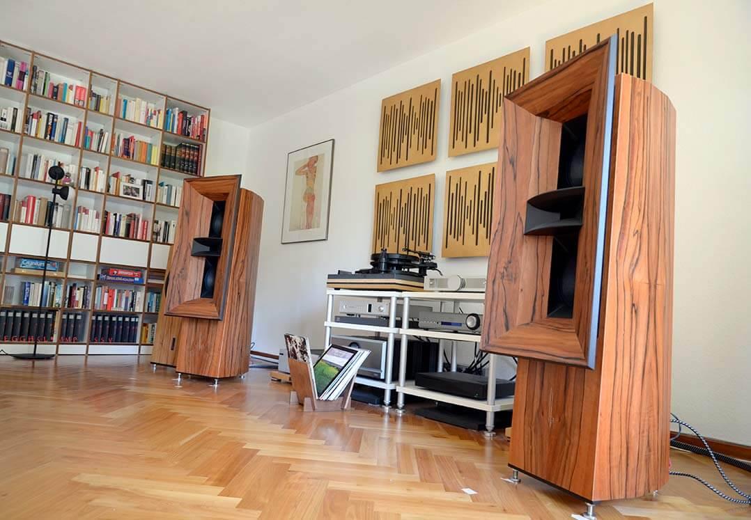 Blumenhofer Gran Gioia 2x10Blick auf einen der beiden 10-Zoll-Woofer der Gran Gioia 2x10 in der Testanlage