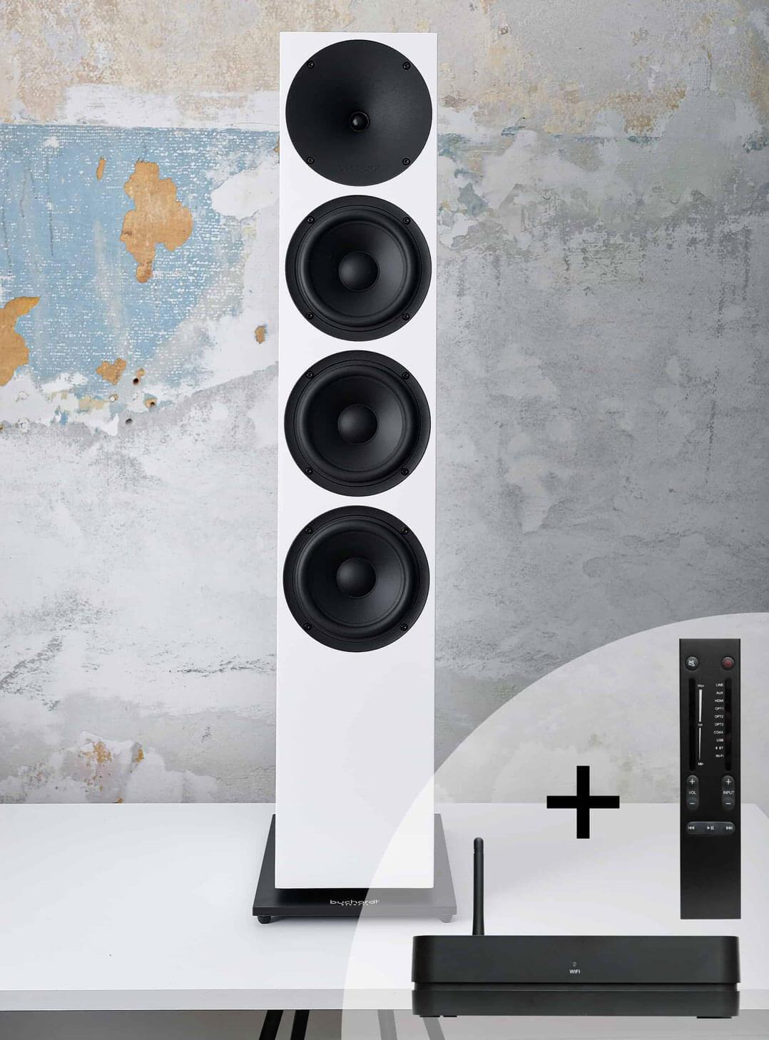 Buchardt Audio A700 in Weiß mit Audio Hub