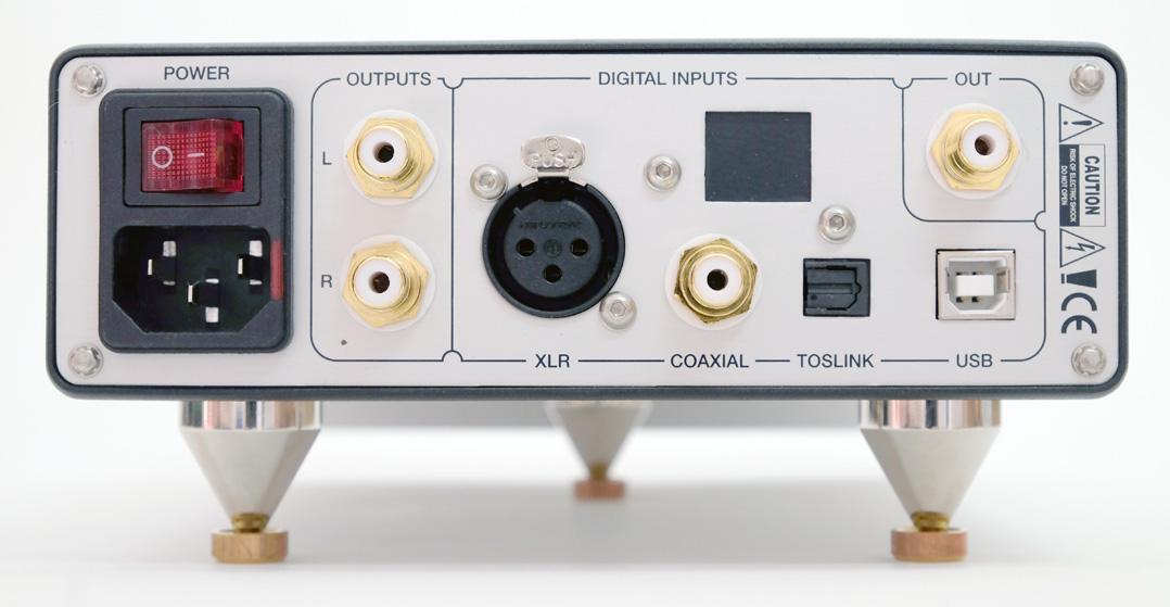 Audiomat Tempo C - komplette Rückseite mit Anschlüssen