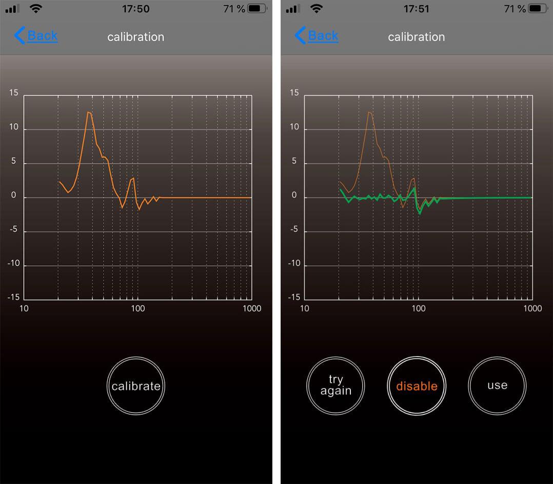 Mit einem Apple iPhone lässt sich der nubert nuPro XS-7500 einmessen