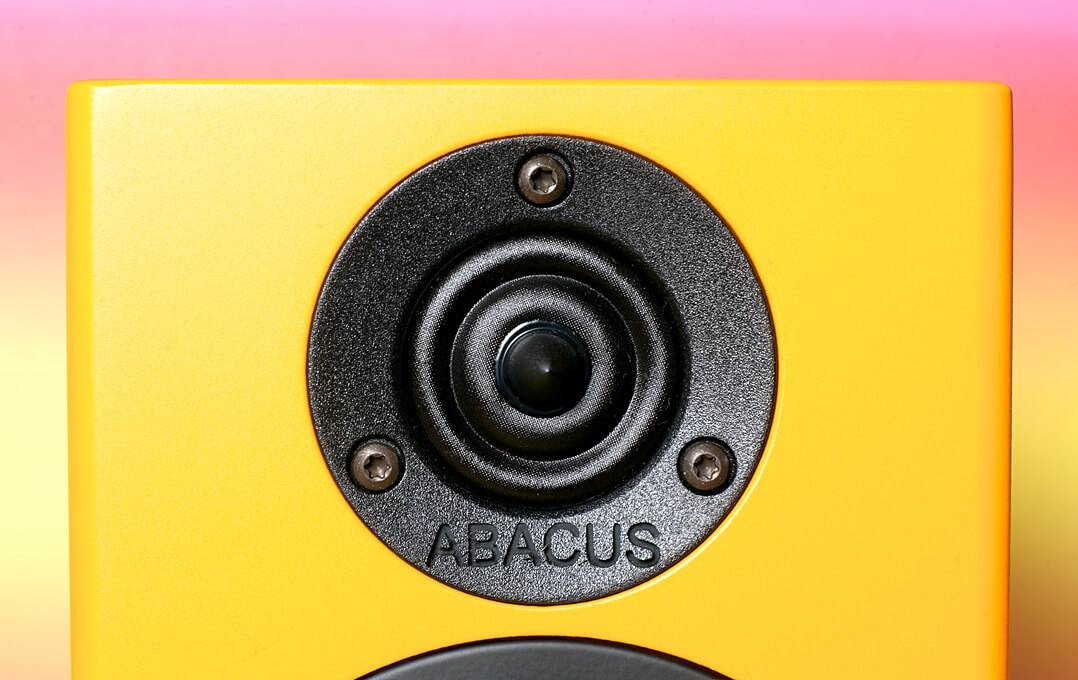 Abacus C-Box 3 Membran des Hochtöners in Nahaufnahme