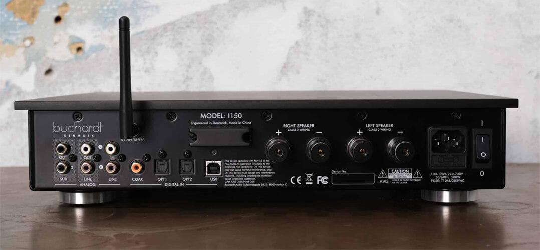 Buchardt Audio I150 Vollverstärker Rückseite