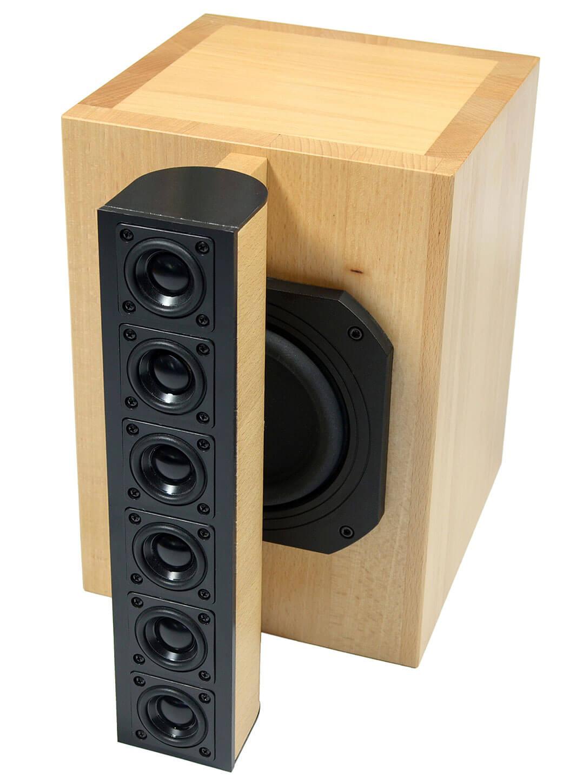 Die audiophile FAST cylindric besteht aus drei bis sechs solcher Lautsprecher-Module