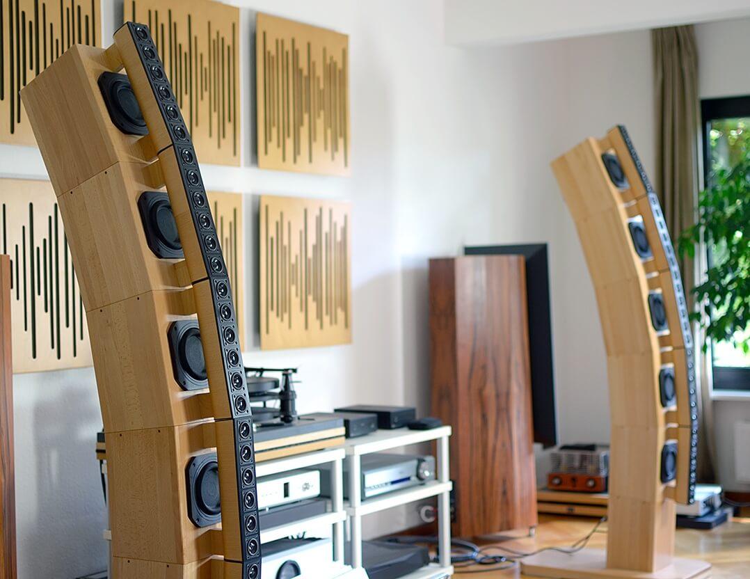 audiophile FAST cylindric im Hörraum