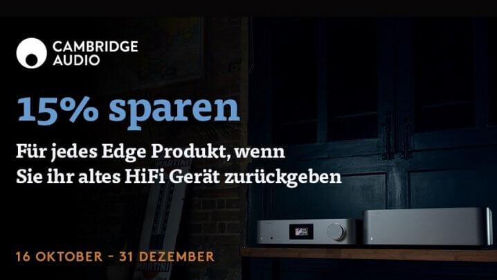 Cambridge Audio Edge-Serie Trade-In-Aktion