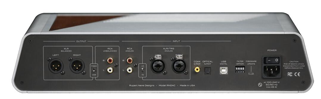 Nennt sich DAC, ist aber eine vollwertige Vorstufe mit Kopfhörer-Amp: Rupert Neve Designs Precision-Digital-to-Analog-Converter