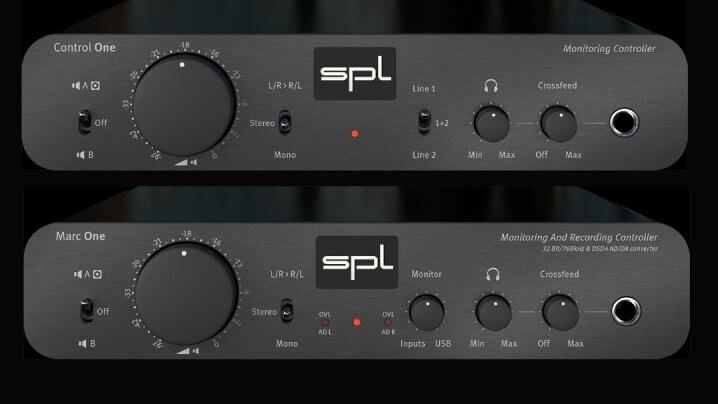 SPL Control One und Marc One Monitor/Recording Controller