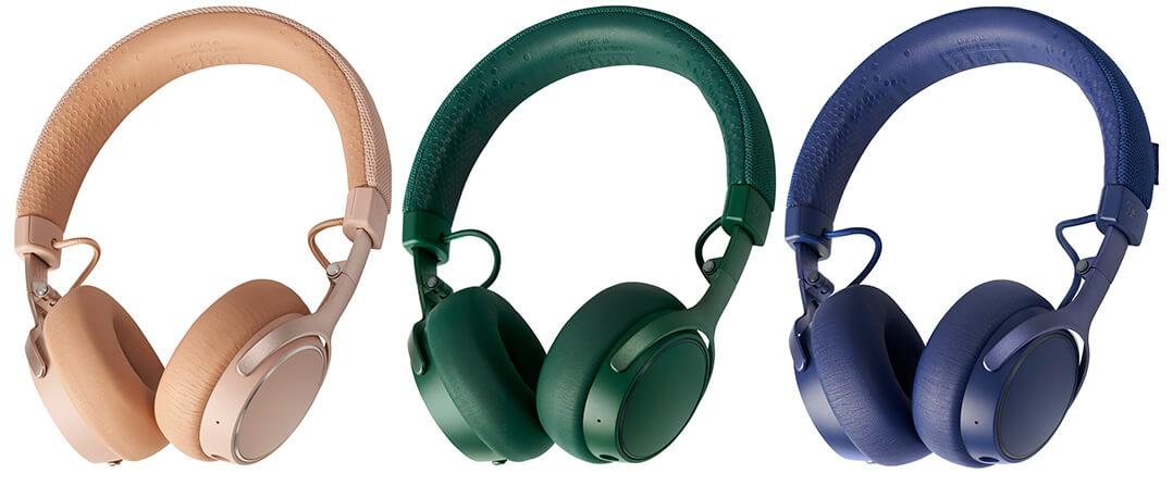 ...sowie in drei kräftigeren Tönen: Pale Gold, Ivy Green und Navy Blue