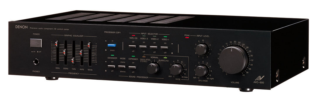 Der erste AV-Receiver Denon AVC-500 – eine unscheinbare Revolution