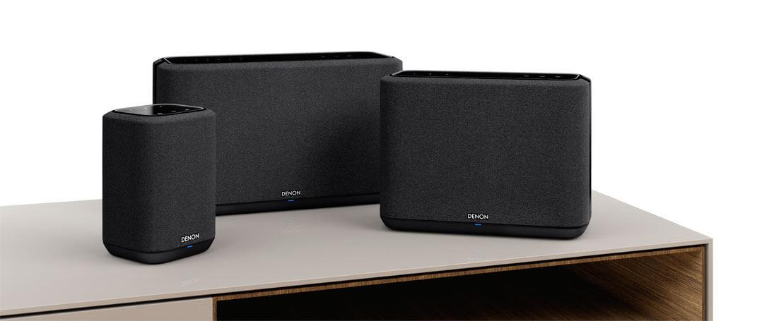 Die Sound-Systeme Denon Home 150, Denon Home 350 und Denon Home 250