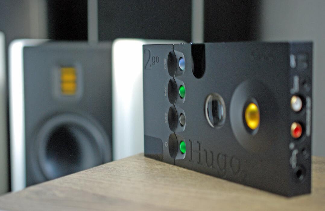 Chord Hugo 2 und 2go mit Lautsprecher
