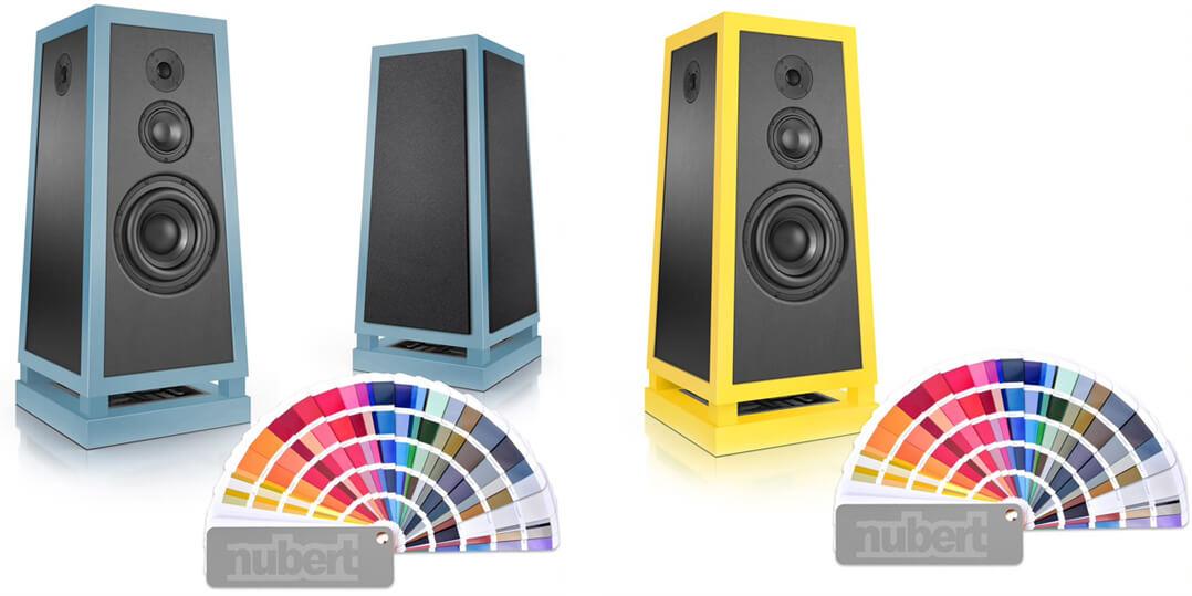 Die Qual der Wahl: Mehr als 200 Farbvarianten stehen bei den Nubert nuPyramide 717 Exclusiv zur Verfügung