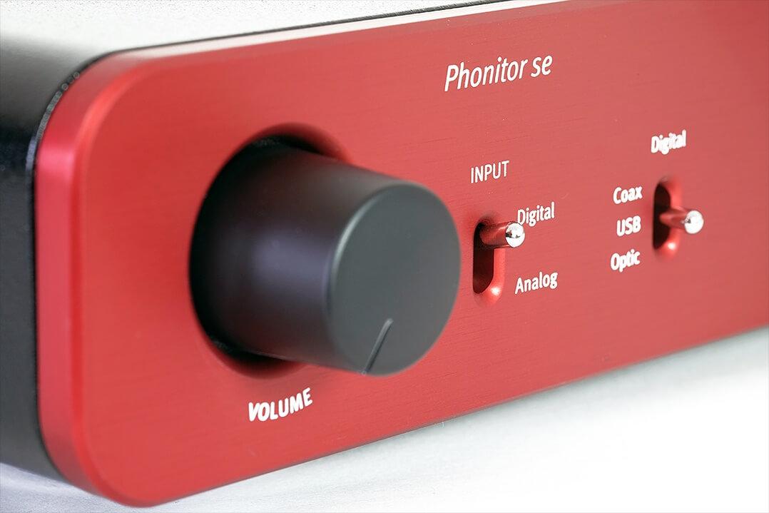 Volume-Steller und Eingangswahl des SPL Phonitor se