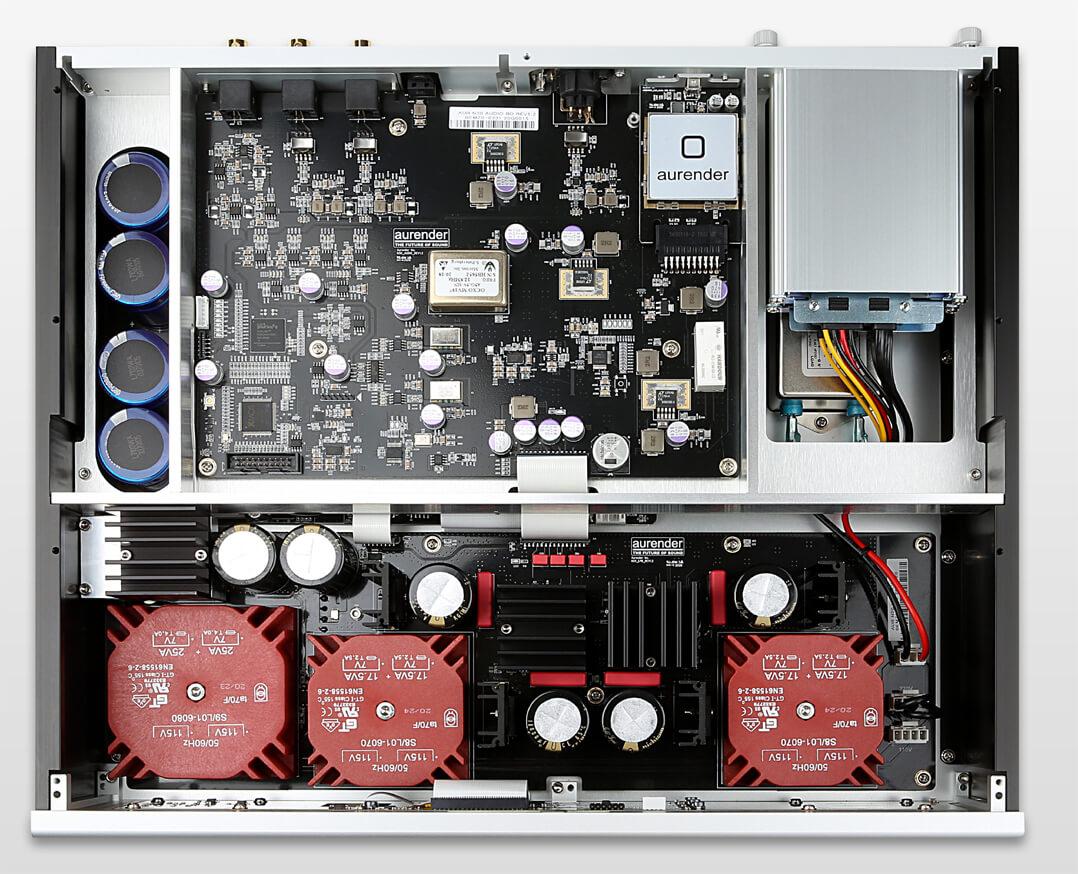 Aurender N20 Streaming Server - aufgeräumtes Innenleben und beste Bauteile