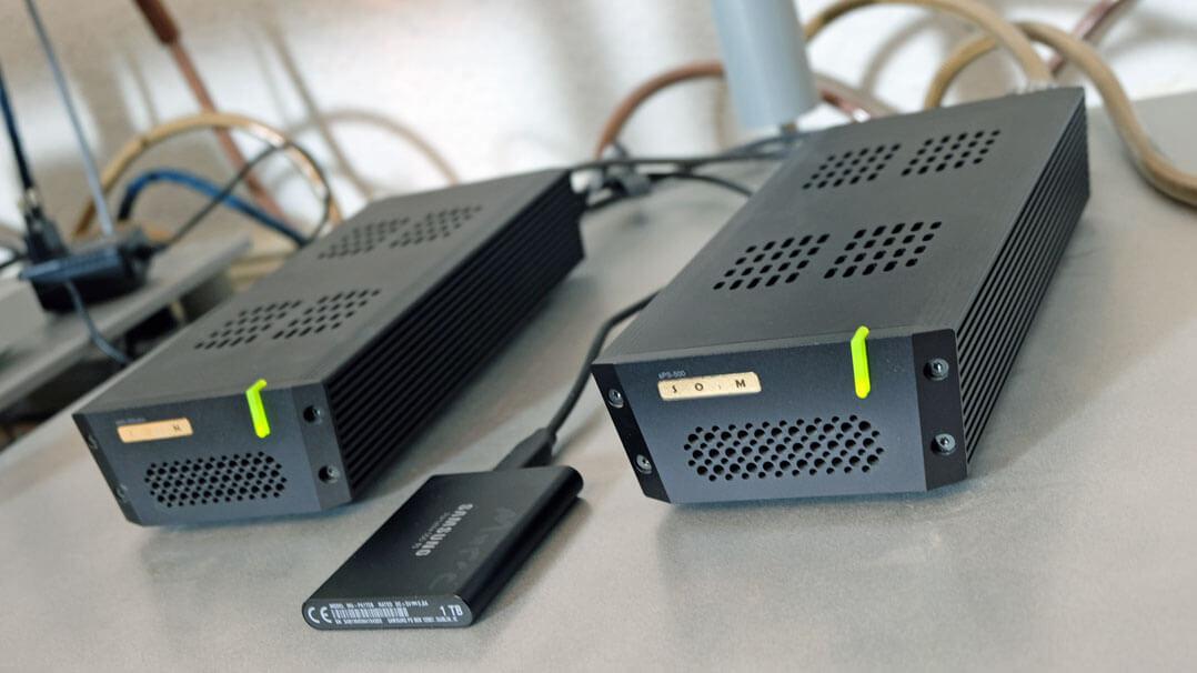 Computer-Audio und Rack