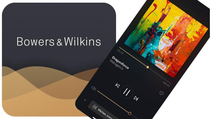 Bowers & Wilkins Music App mit Smartphone