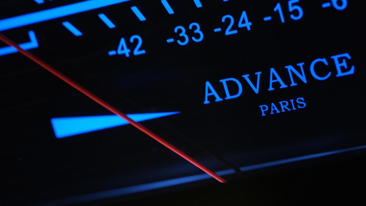 Advance Paris A10 Classic: Zeiger des VU-Meters