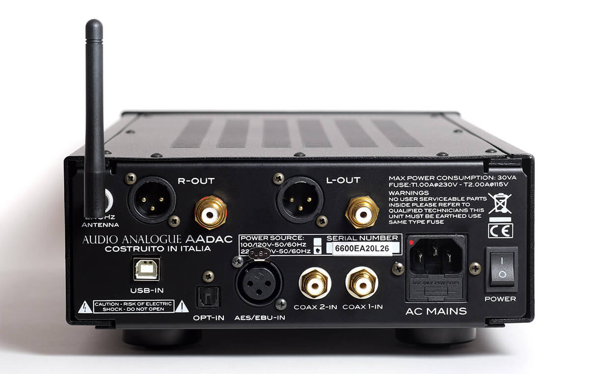 Das Anschlussfeld des Audio Analogue AAdac