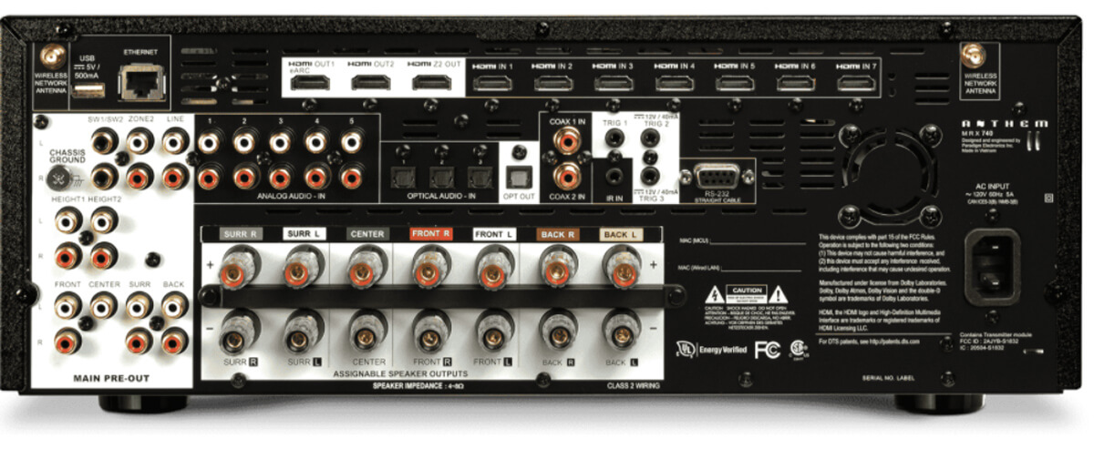 Anthem MRX-740 Rückseite