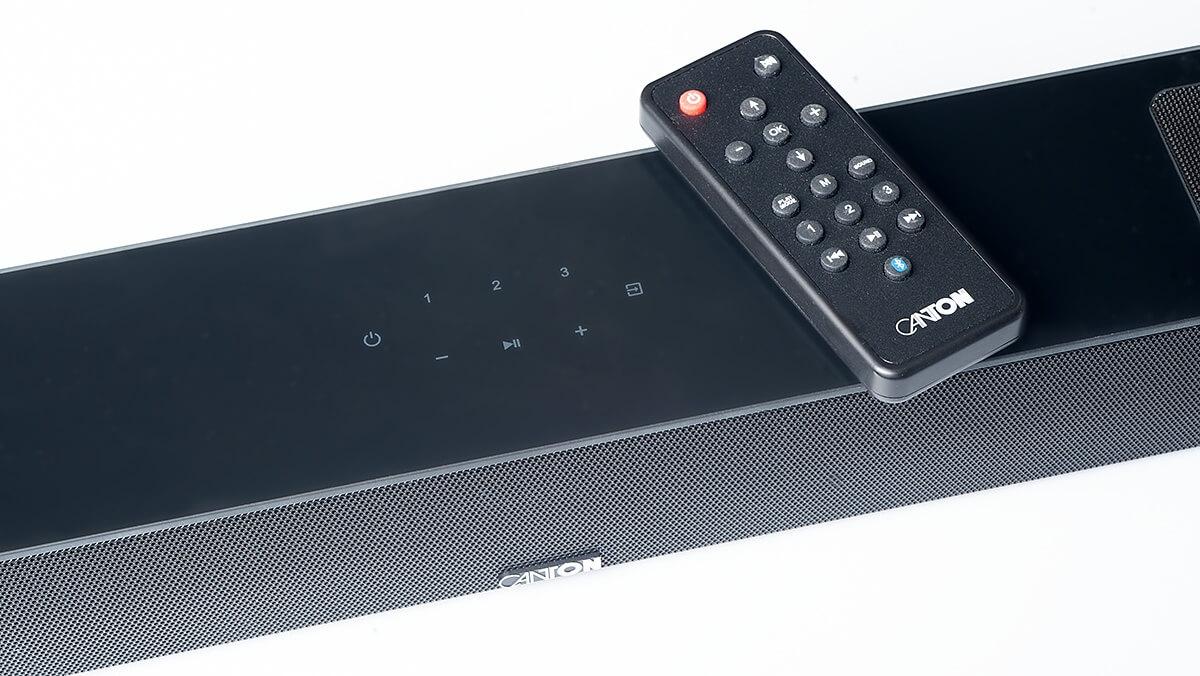 Die Canton Smart Soundbar 10 kommt mit Fernbedienung
