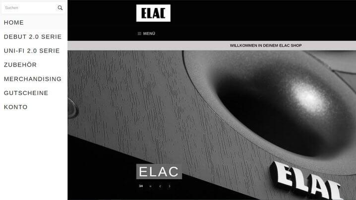 Elac Online-Shop