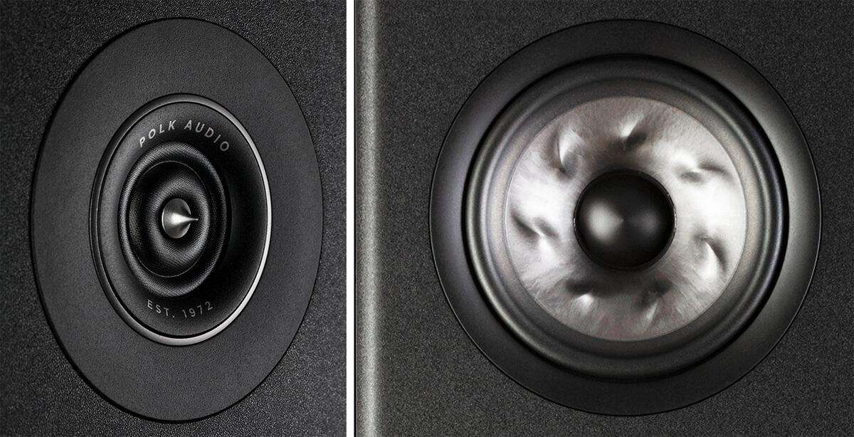 Polk Audio Ringradiator und Turbine Cone Mitteltöner
