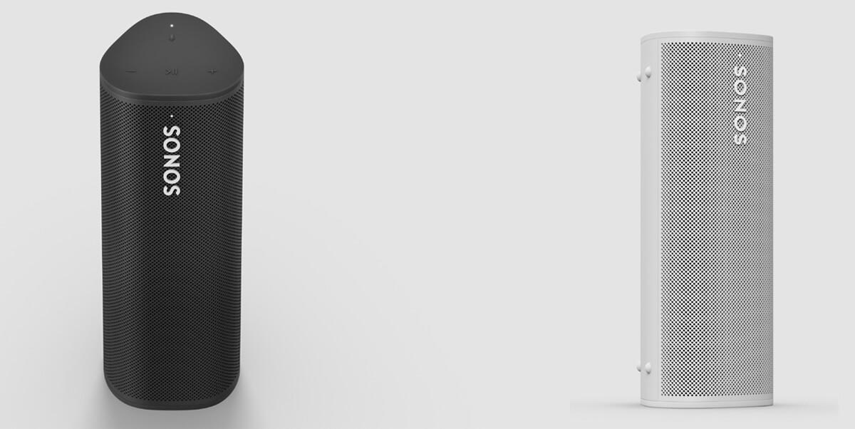 Sonos Roam Lautsprecher - Front- und Seitenansicht