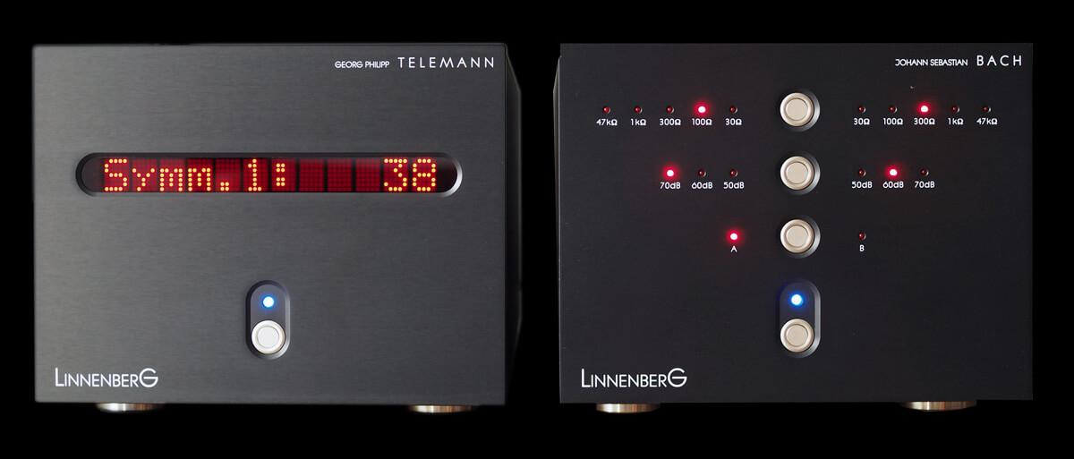 Im Betrieb: Linnenberg J. S. Bach und Linnenberg G. P. Telemann: Phonovorverstärker und DAC/Vorverstärker