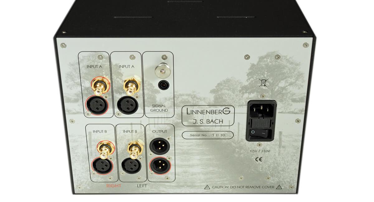 Die Schnittstellen des Linnenberg J. S. Bach Phonovorverstärkers